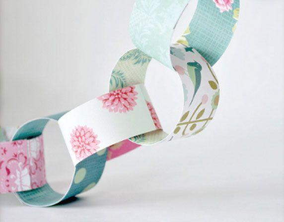 Une guirlande en papier faite maison | Guirlande papier, Guirlande, Papier diy