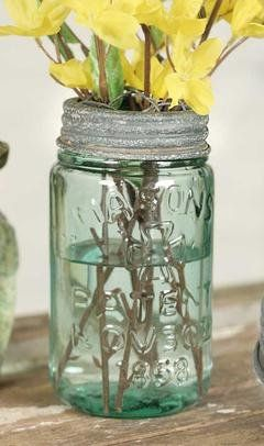 Mason Jar Chicken Wire Flower Frog Lid - Barn Roof - This Mason Jar Chicken Wire Flower Frog Lid is perfect for holding flowers, pens, pencils, toothbrushes and more. Create a center piece for your special event. Lid is the new popular barn roof gray with wire grid with the look of aged galvanized finish. Fits standard mason jar. http://marciscountrymarket.com/products/mason-jar-chicken-wire-flower-frog-lid-barn-roof
