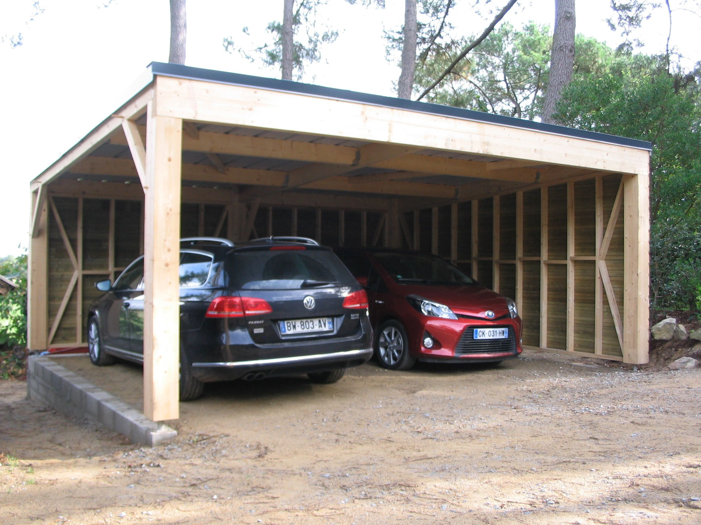fabriquer carport blitterwolf. Black Bedroom Furniture Sets. Home Design Ideas