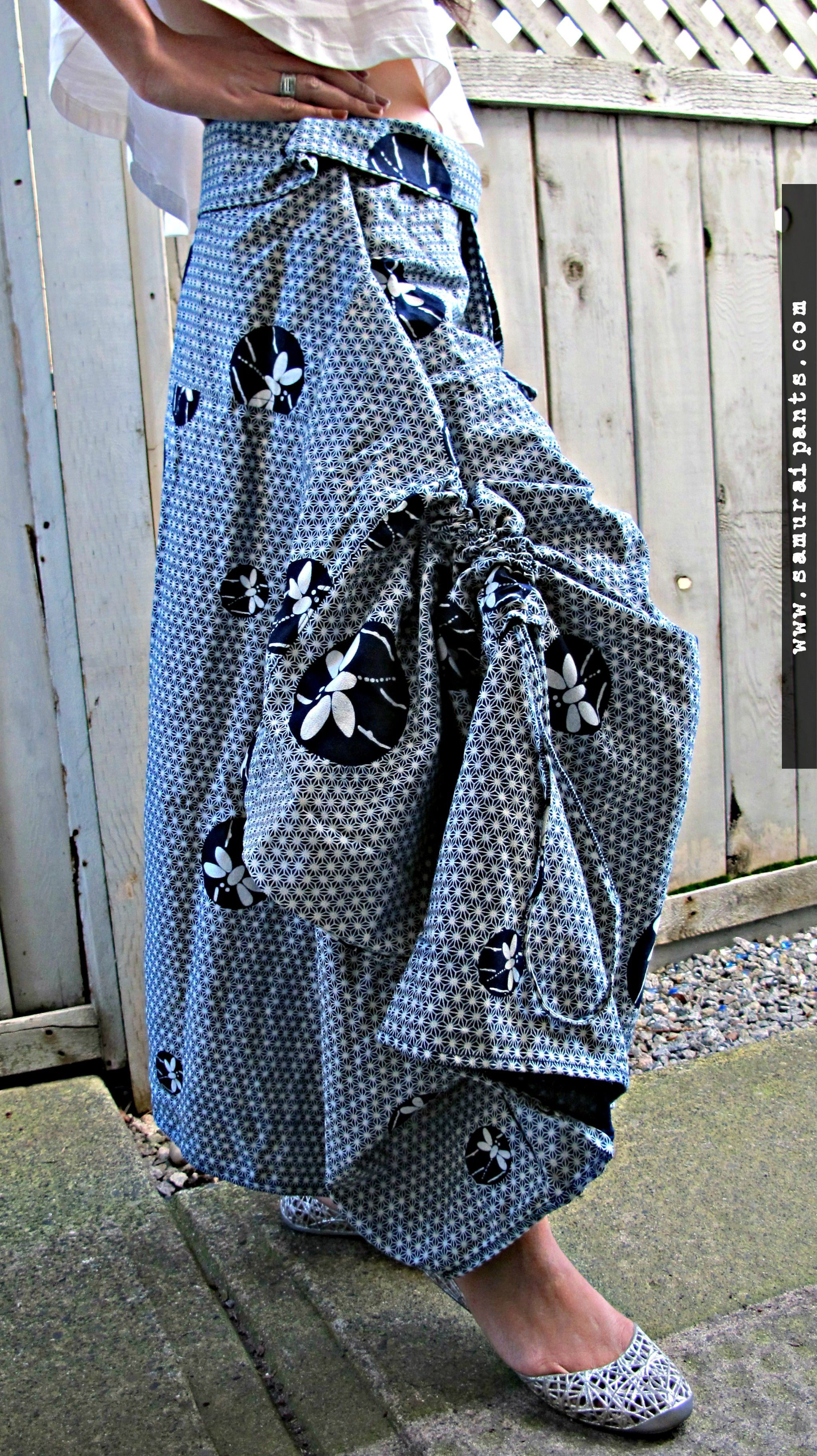 Indigo Dragonfly Wrap Skirt