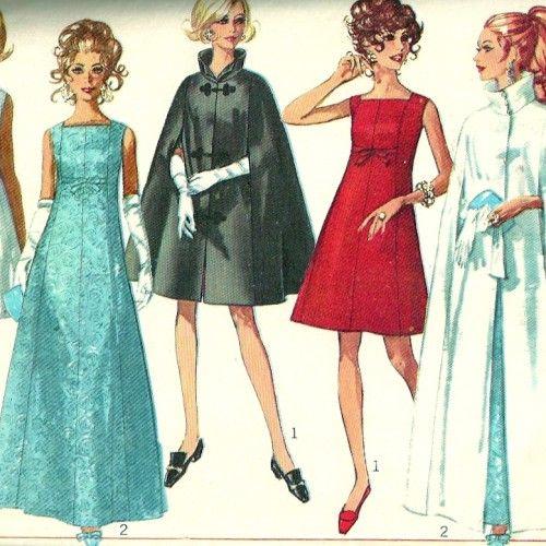 Sixties style evening dresses