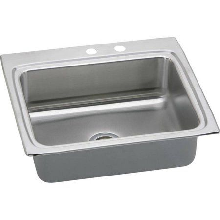 Elkay LRADQ252240MR2 Gourmet Lustertone Stainless Steel Single Bowl - wasserhahn küche mit brause