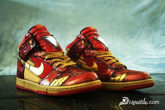 Diversitile: Iron Man and War Machine Custom Light UP Nike