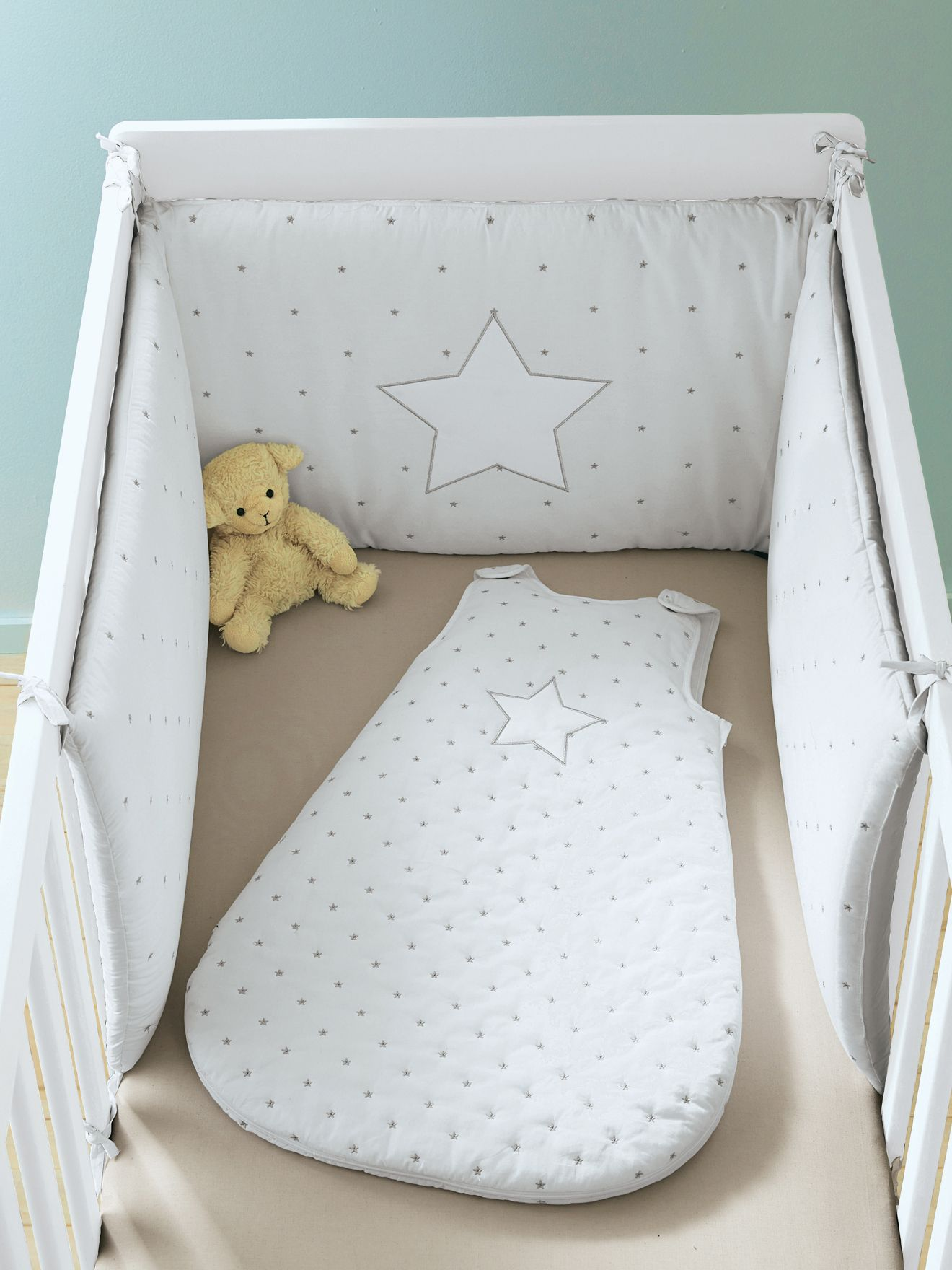 parure lot de 2 draps housses b b collection bio tour de lit en pur coton collection bio. Black Bedroom Furniture Sets. Home Design Ideas