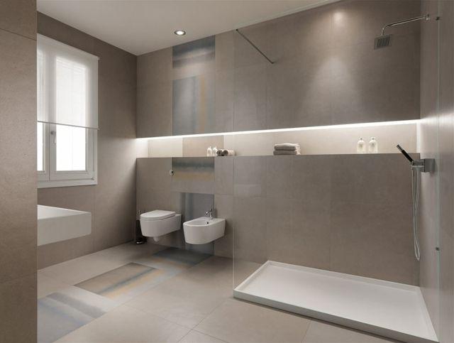 Carrelage de salle de bains original 90 photos inspirantes art design an - Amenagement petite salle de bain 4m2 ...