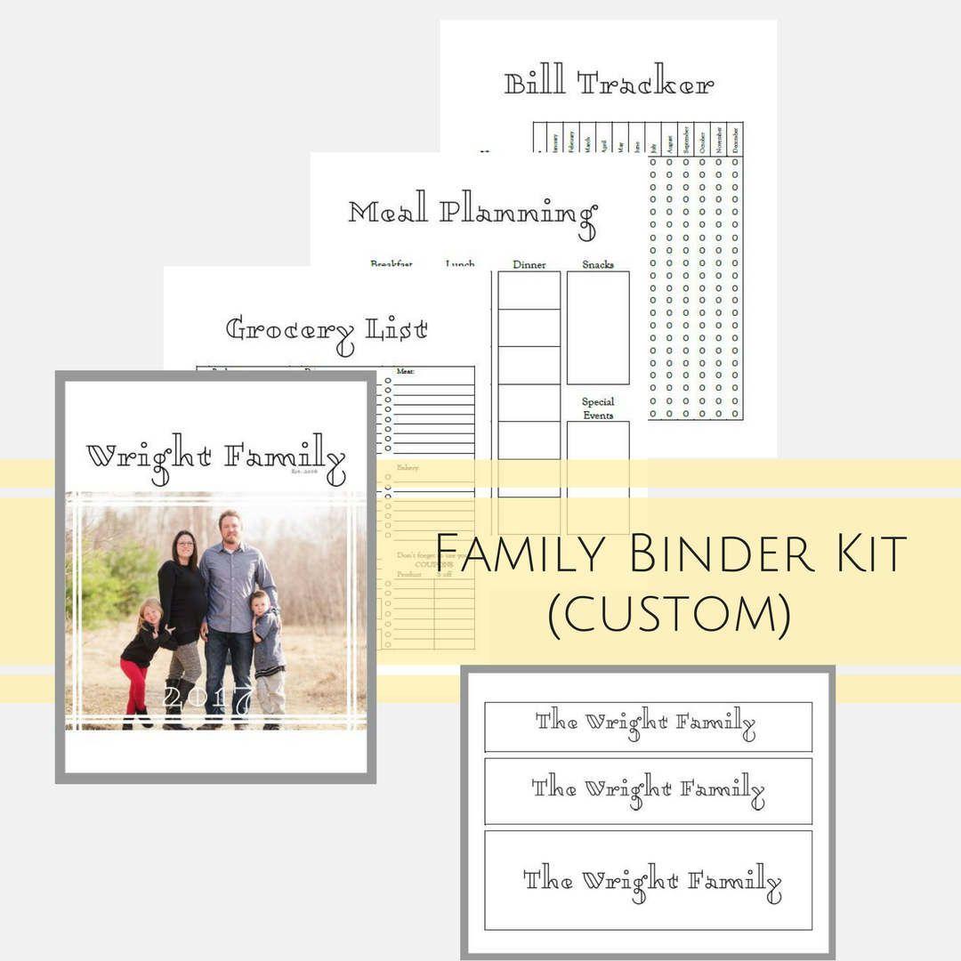 Custom Binder Printables For Busy Moms Home Management