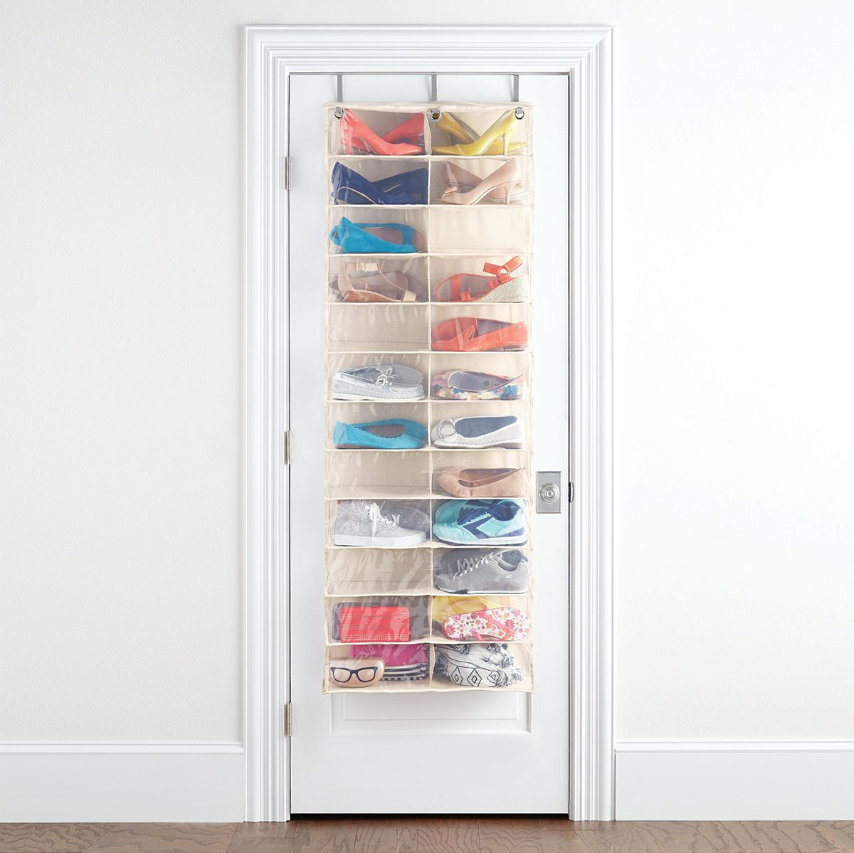 Over The Door Shoe Organizer 24 Pocket Container