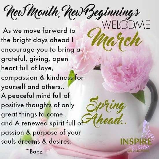 Welcome March Scripture Inspiration Happy New Month Quotes