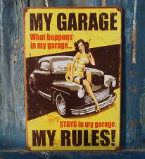 """Vintage Repo Metal Sign measuring 12.5"""" x 16"""" Comes with 4 pre-drilled holes in each corner for easy display. $16.50 at Michaels Vintage Décor and, as always, FREE SHIPPING."""