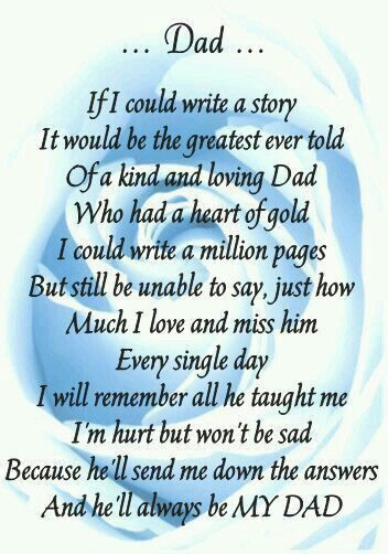 Missing Heaven My Dad Poems