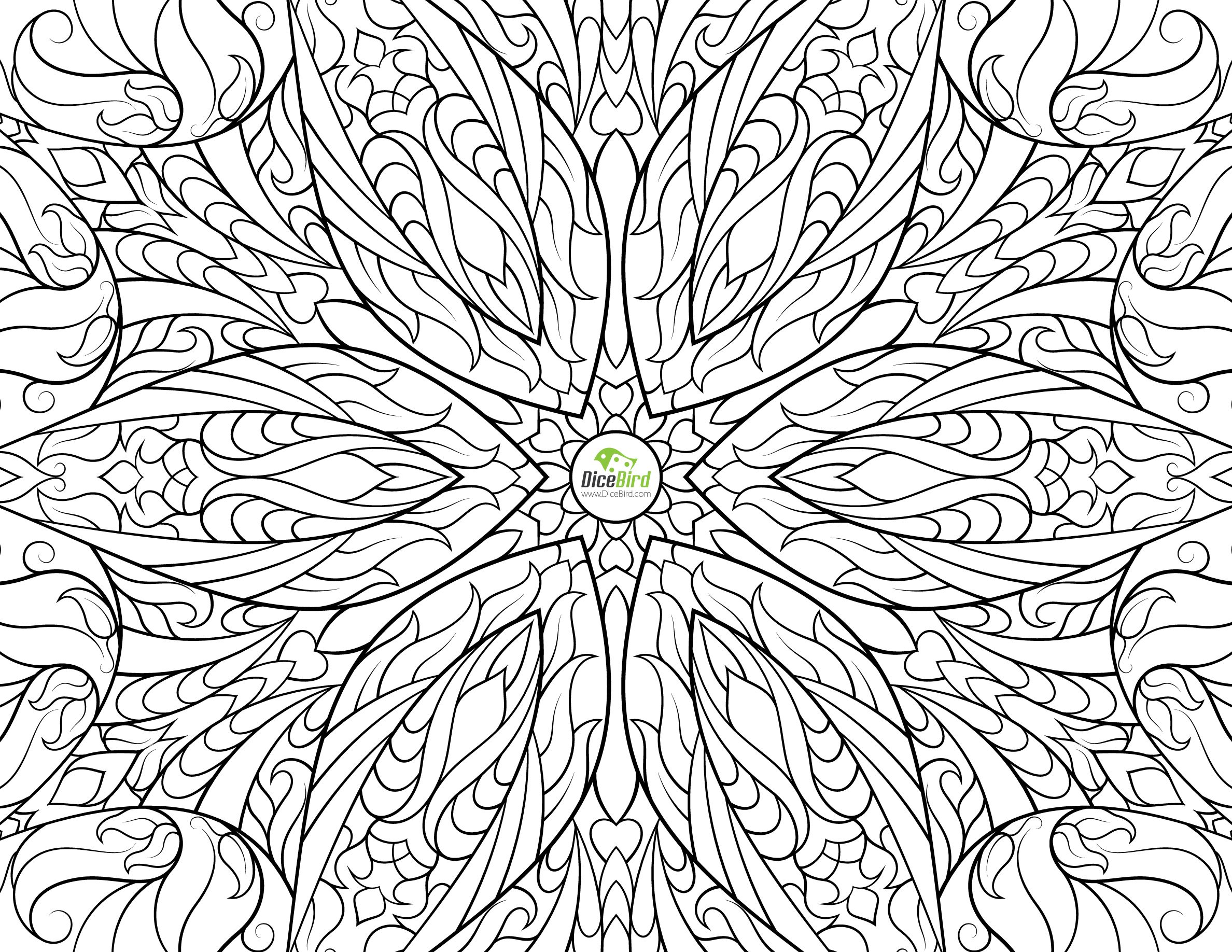 Freedom Flower Difficult Coloring Pages For Adults Color