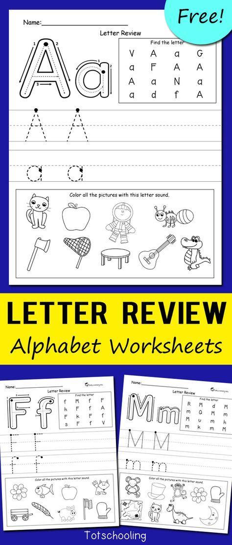 Letter Review Alphabet Worksheets | Kind
