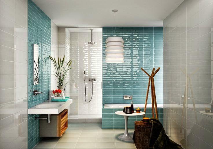 Decoracao 47 Banheiros Para Arrasar Em 2015 Beautiful Bathrooms Bathroom Decor Colorful Bathroom Tile