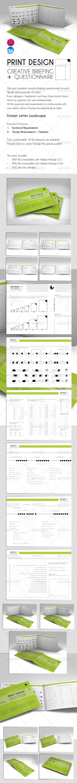 Poster design questionnaire - Print Design Creative Briefing Questionnaire