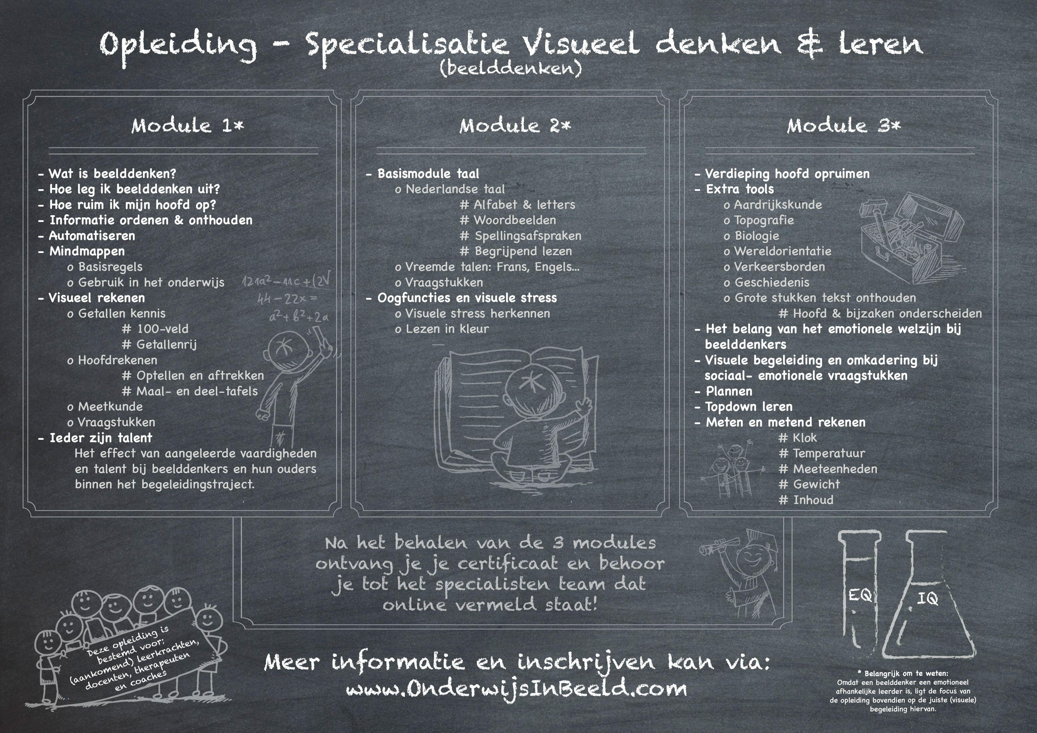 Wil je echt een totaal opleiding rond visueel denken en leren? #beelddenken? Kijk dan op www.OnderwijsInBeeld.com/agenda