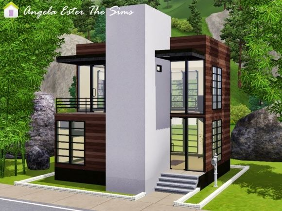 Sims 3 small modern house the image kid for Modern house 49
