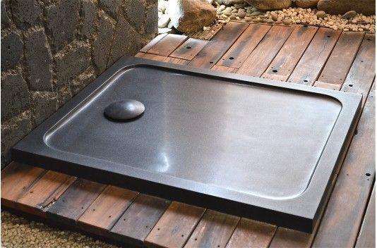 Receveur De Douche Pierre 100x80 Taille Dans Le Granit Noir