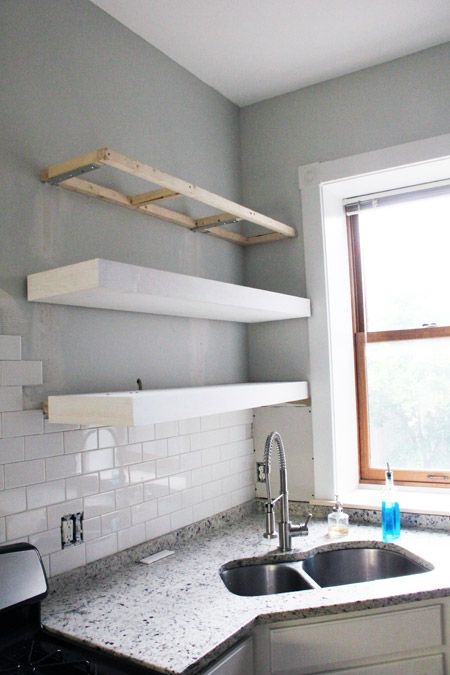 Chunky Diy Floating Kitchen Shelves Floating Shelves Kitchen White Floating Shelves Floating Shelves Diy