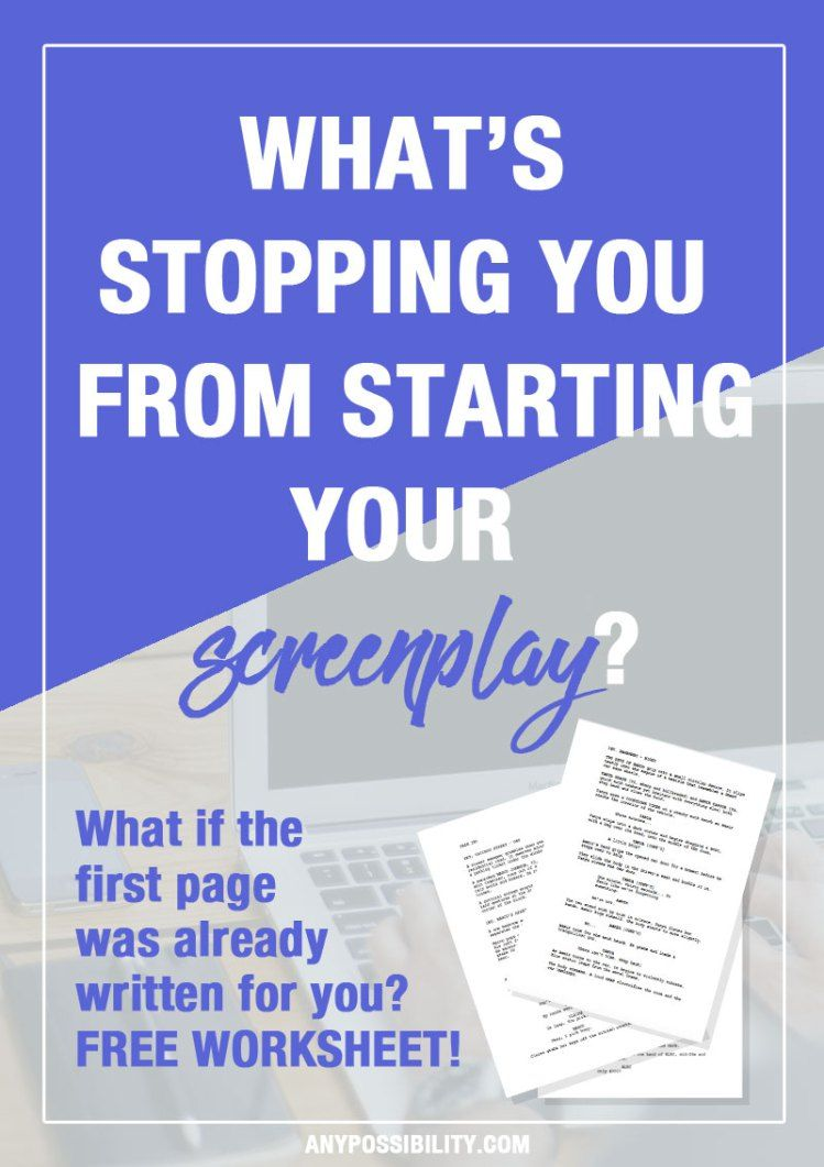 Predownload: One Page Challenge Write Your Screenplay Now Any Possibility Writing Motivation Writing Writing A Book [ 1061 x 749 Pixel ]