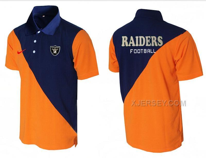 http://www.xjersey.com/nike-raiders-blue-and-orange-split-polo-shirt.html Only$33.00 #NIKE RAIDERS BLUE AND ORANGE SPLIT POLO SHIRT Free Shipping!