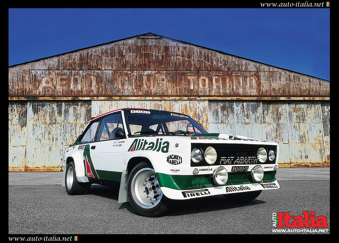 Fiat 131 Abarth Rally Bi Alitalia Italia Vintage Racing