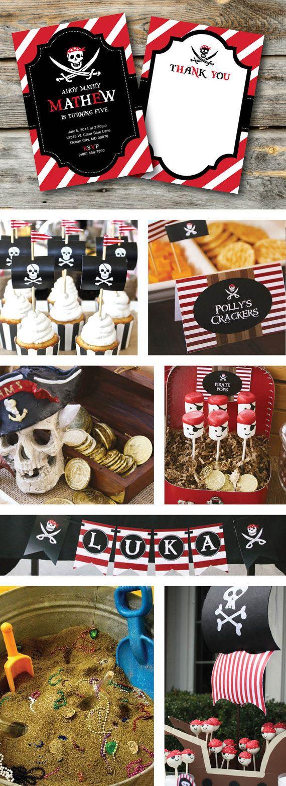 Pirate Invitation, Pirate Birthday Party, Pirate invite, Pirate ...