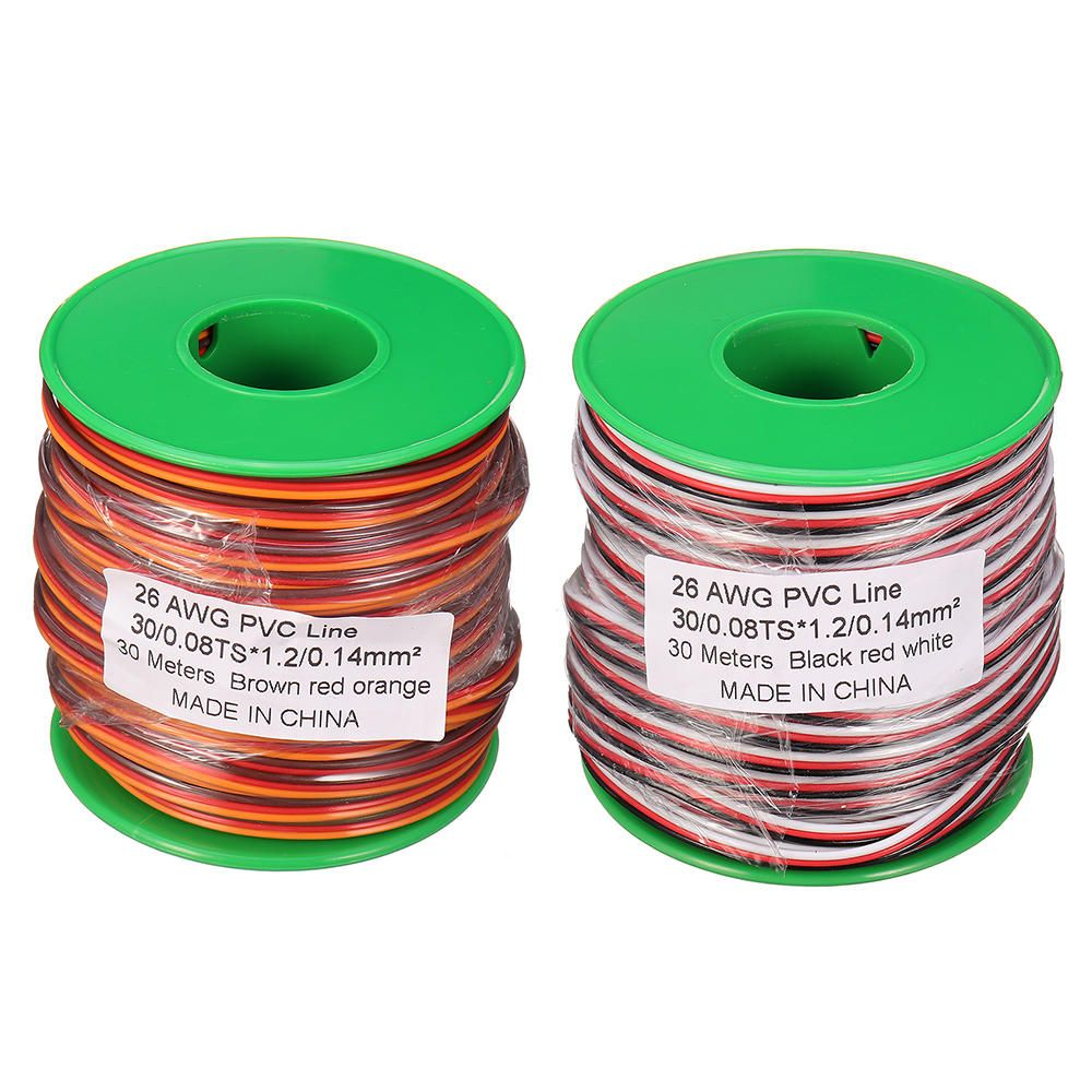 30m 26awg Soft Silicone Servo Cable Wire High Temperature Tinned Copper Flexible Wire Rc Parts From Toys Hobbies And Robot On Banggood Com Flexible Wire