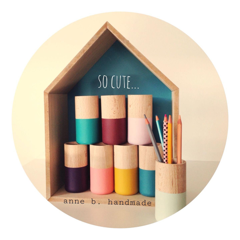 pot crayons poline bordeaux cylindrique en bois et. Black Bedroom Furniture Sets. Home Design Ideas