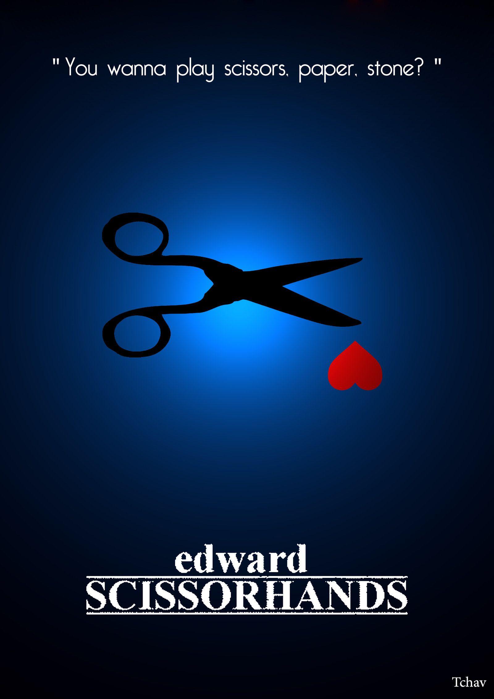 Edward Scissorhands By Tchav Minimalist Poster Edward