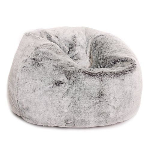 Prime Hokku Designs Kids Faux Fur Bean Bag Chair Girl Bedroom Squirreltailoven Fun Painted Chair Ideas Images Squirreltailovenorg