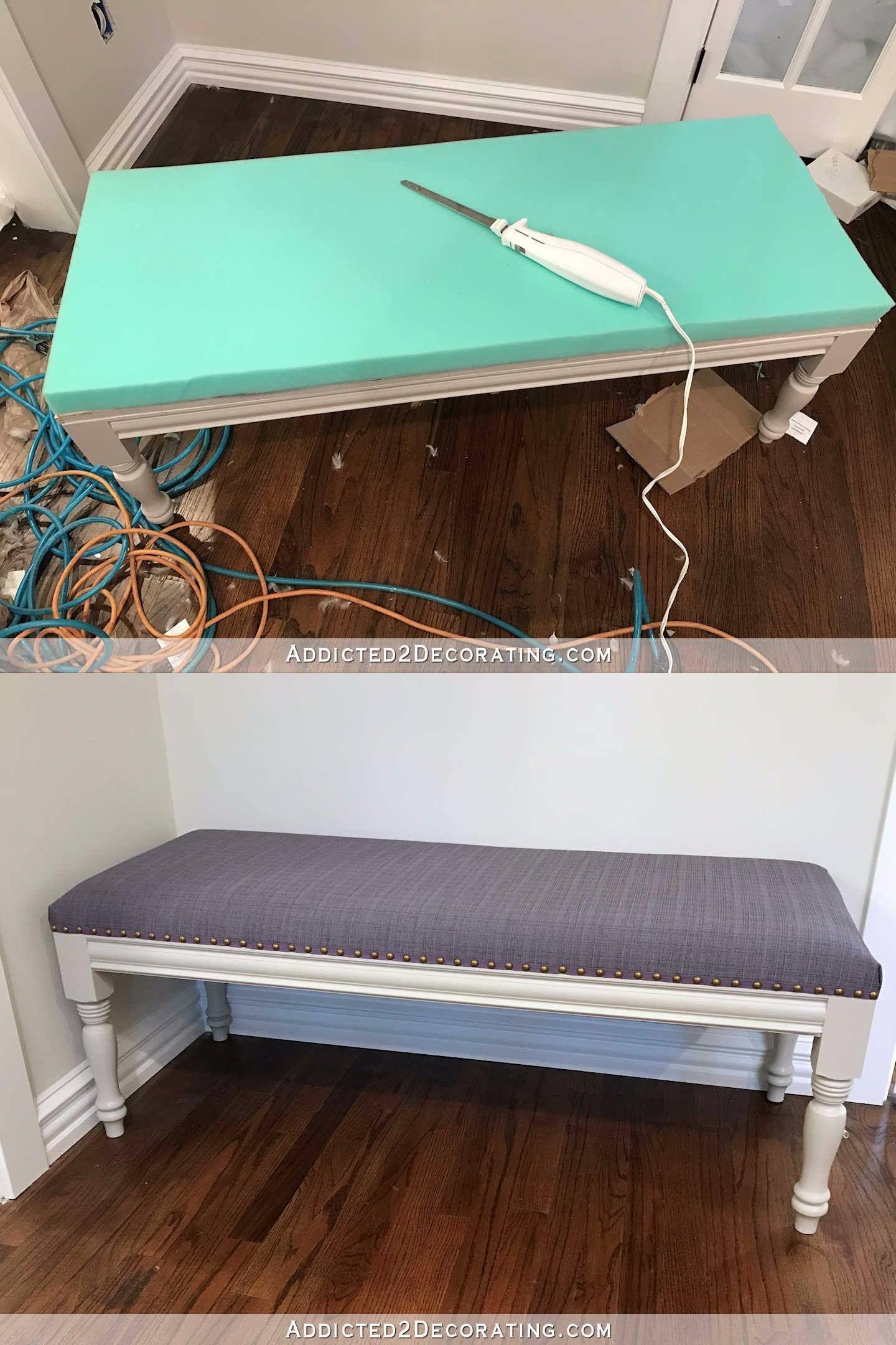 Cómo tapizar un banco de madera | Tapizado, Bancos de madera y Bancos