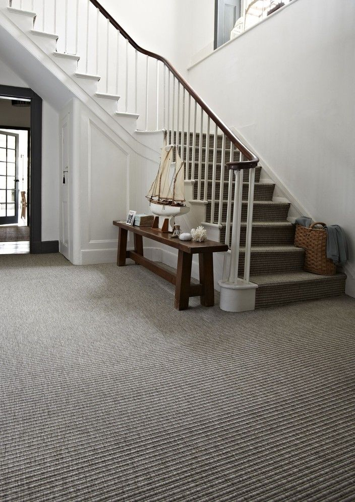Grey Carpet On Stairs
