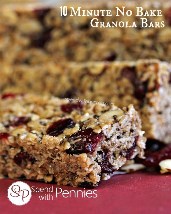 Beau 10 Minute No Bake Granola Bars! You Can Add Whatever You Like To These!
