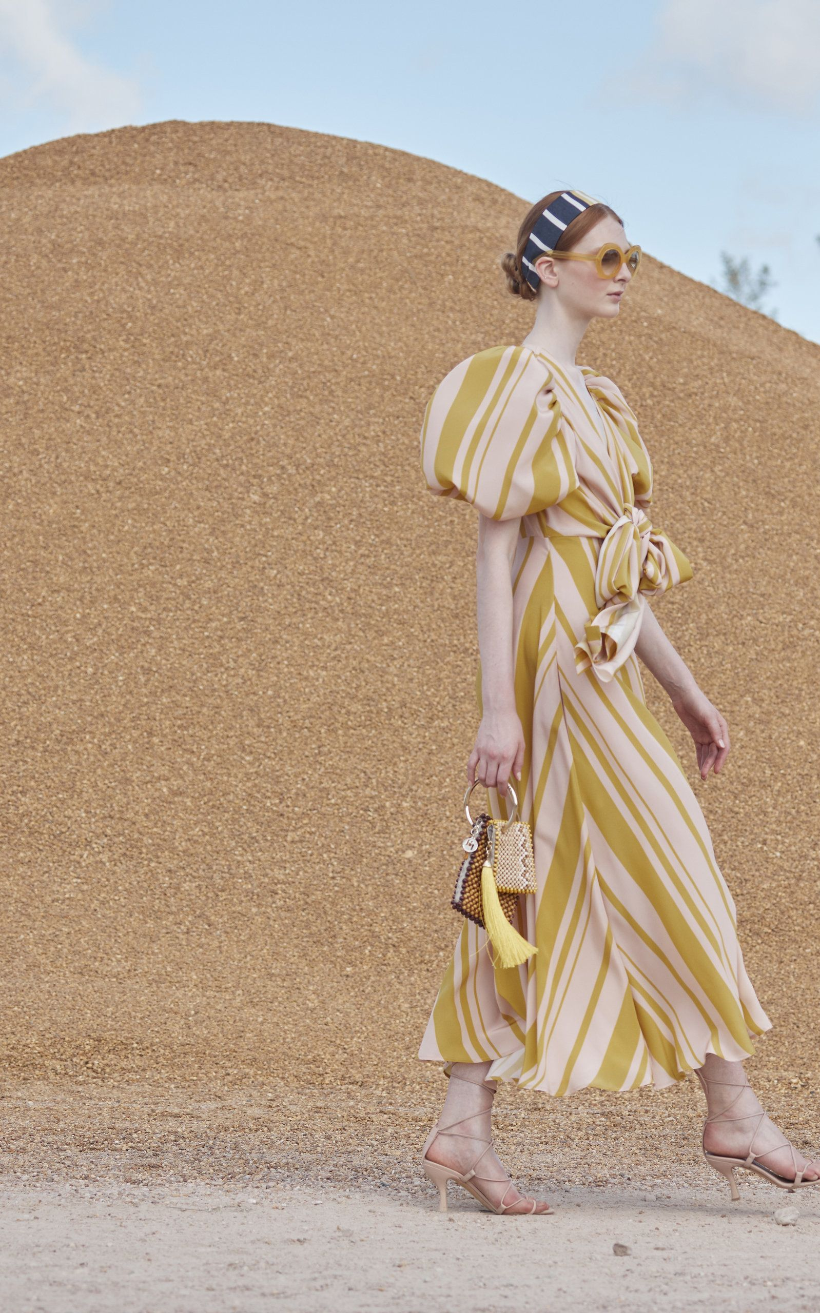 Tatacoa Beaded Dual Pouch Bag By Silvia Tcherassi X Rosantica Moda Operandi Fashion Stripe Silk Striped Midi Dress