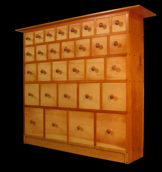 Genial Apothecary Cabinets: Storage With Many Small Drawers