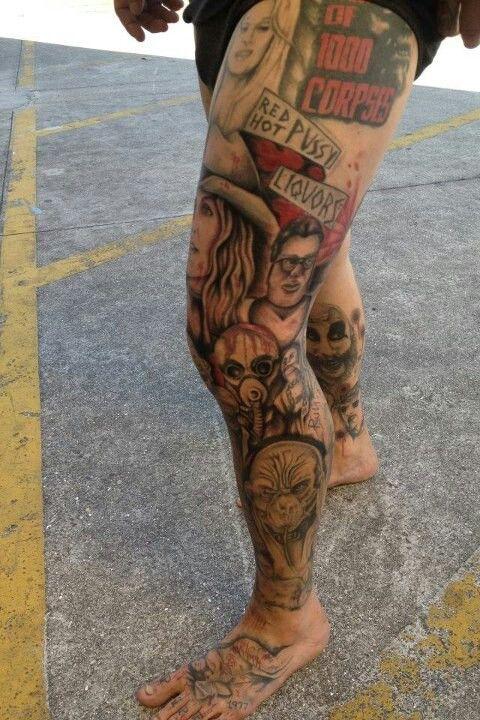 Amazing Devils Rejects Ink Leg Tattoo Men Thigh Piece