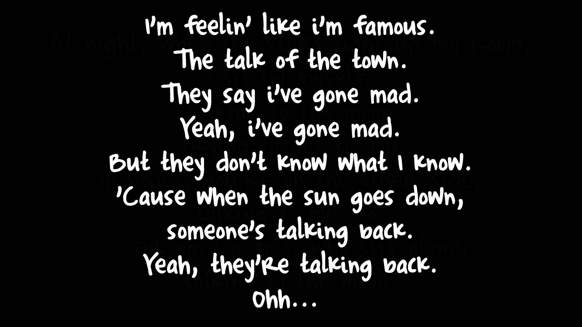At Night When The Stars Light Up My Room Lyrics