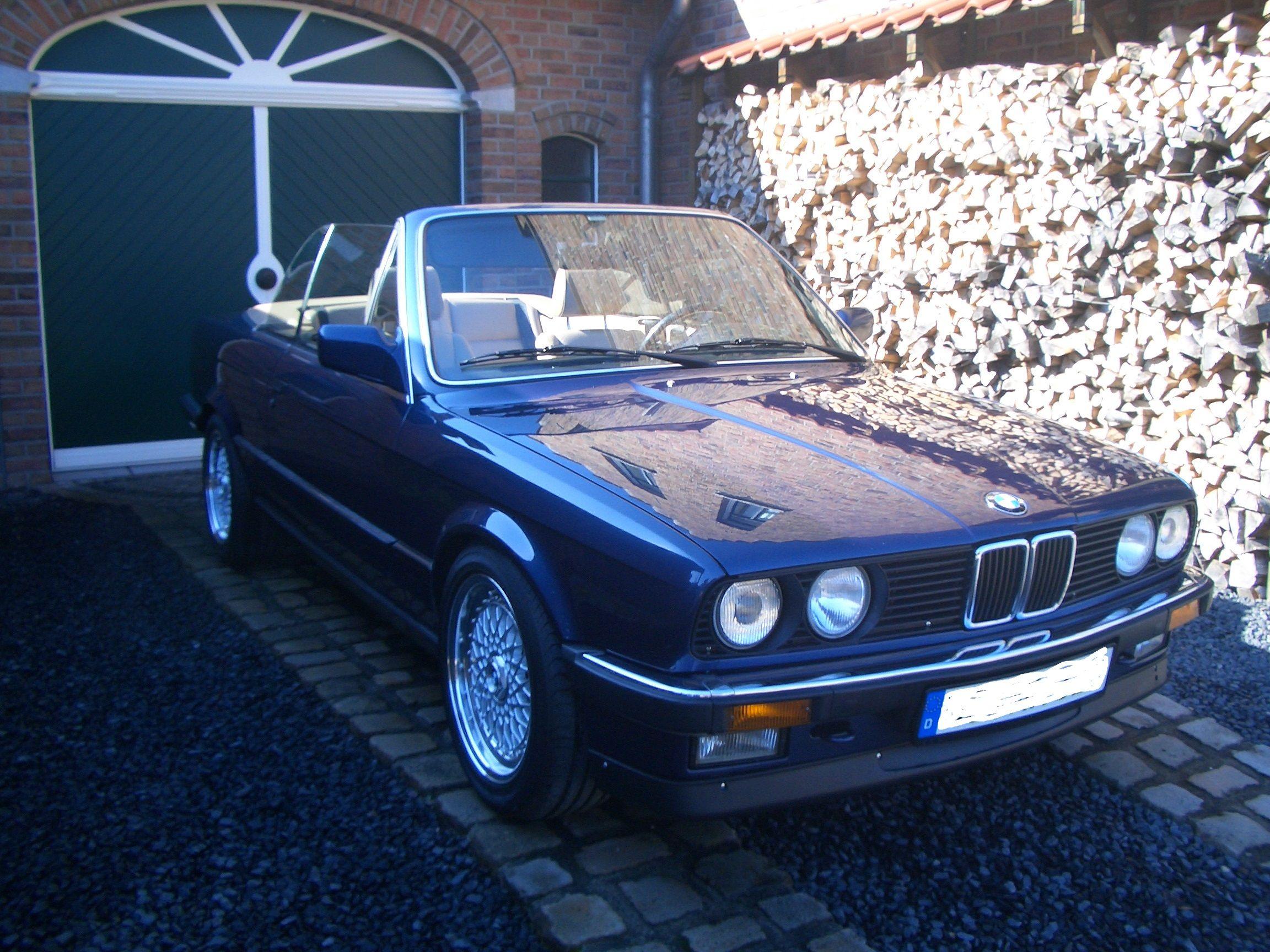 BMW E 3O Cabrio, BJ 1988 VFL Chrommodell Royalblau metallic Männertraum für den Sommer.....