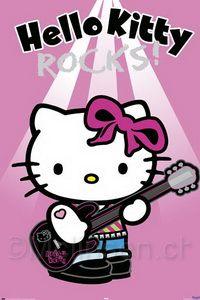 Hello Kitty Rockstar Hello Kitty Poster Rock Star 610x915