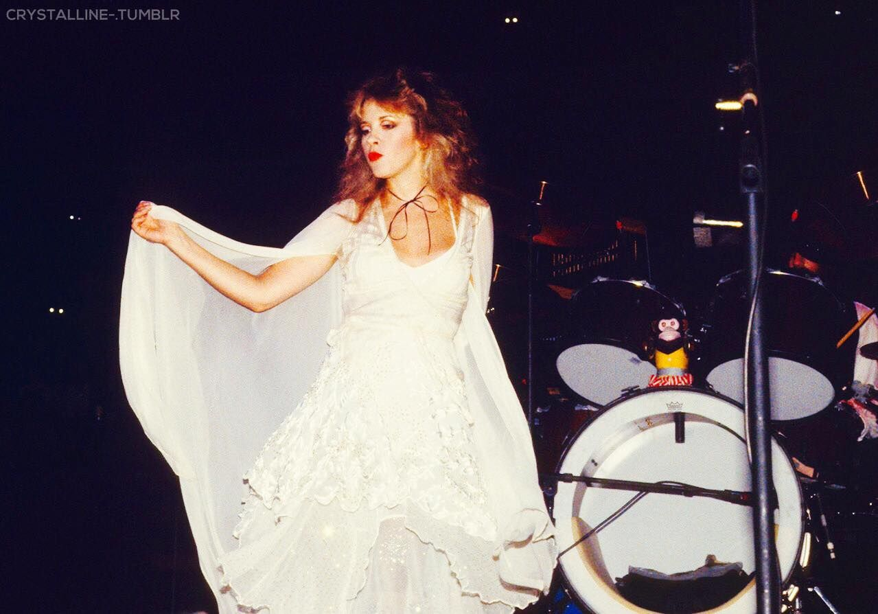 Stevie Onstage Lovely In White With A Kissy Face Godmother Dress Dresses Classy Dress [ 894 x 1279 Pixel ]
