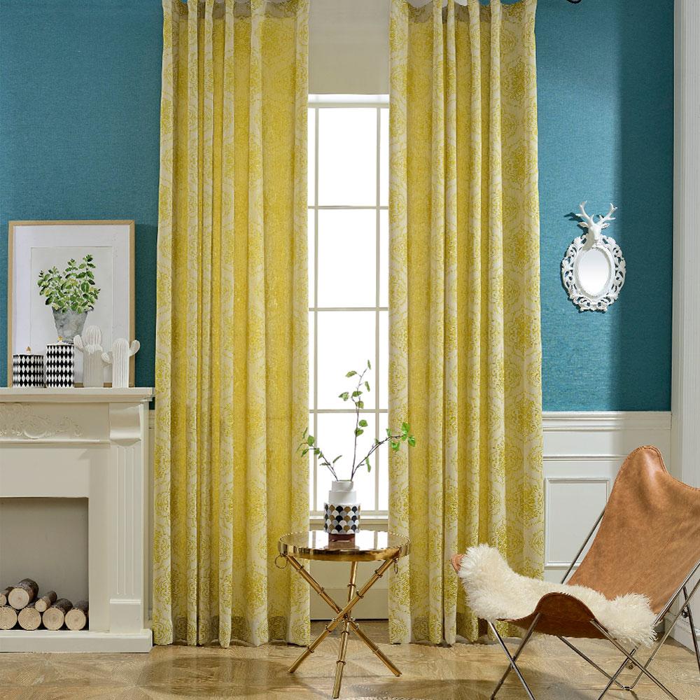 Gelbe Vorhänge Schlafzimmer
