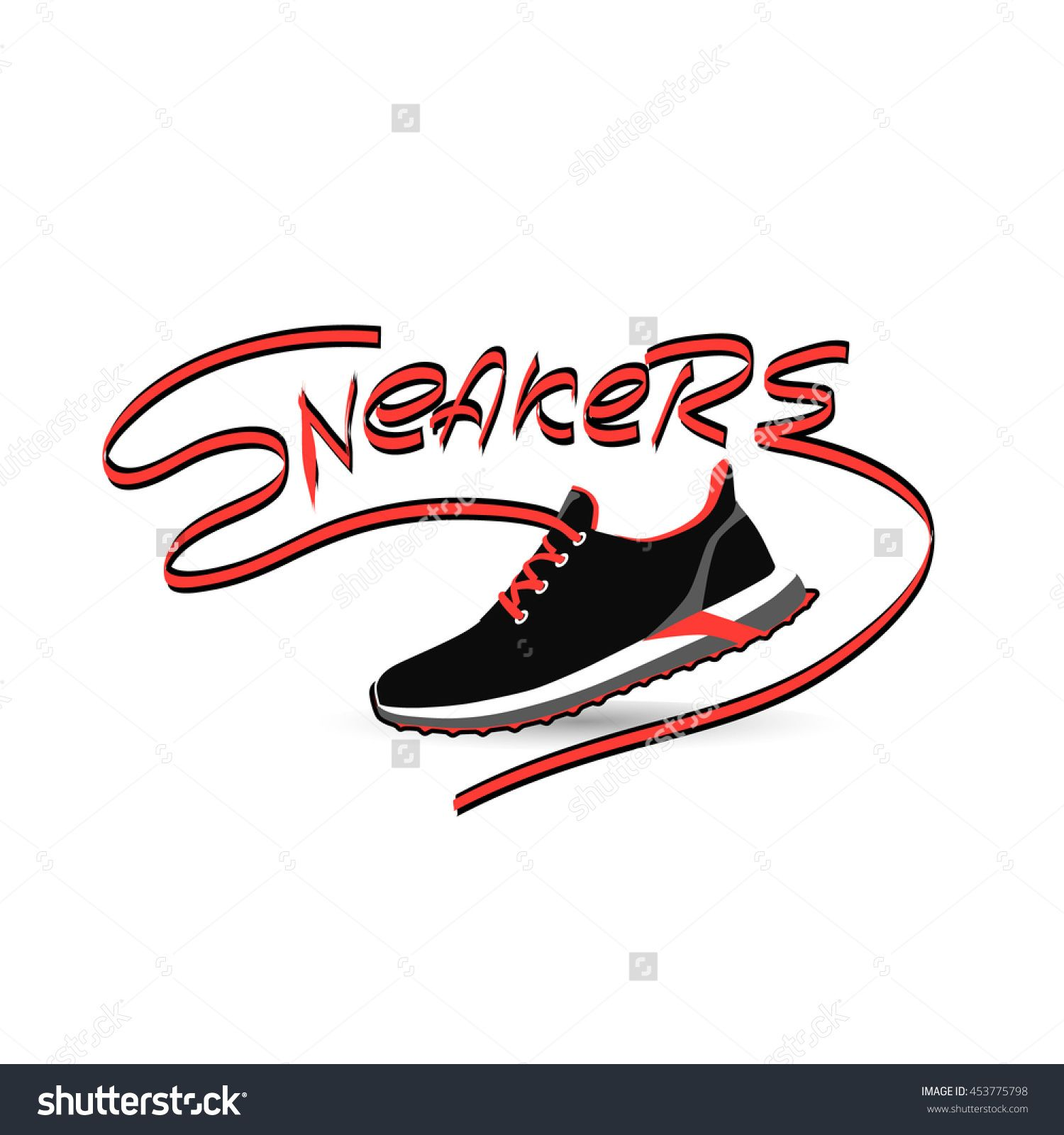 Running shoe or sneakers icon or symbol. Vector