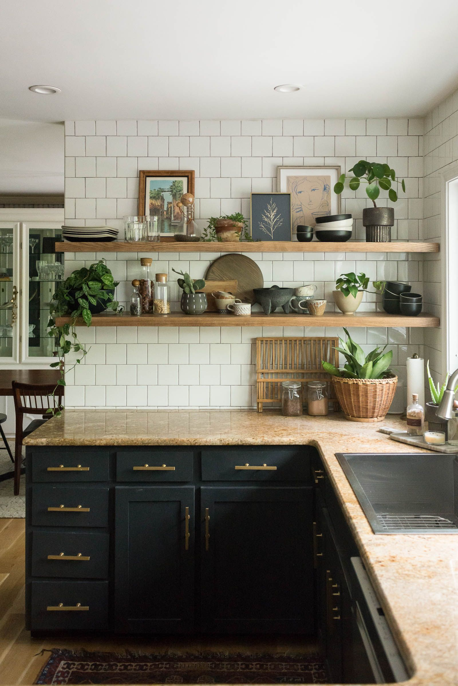 How I Cut Corners with the Kitchen Shelving