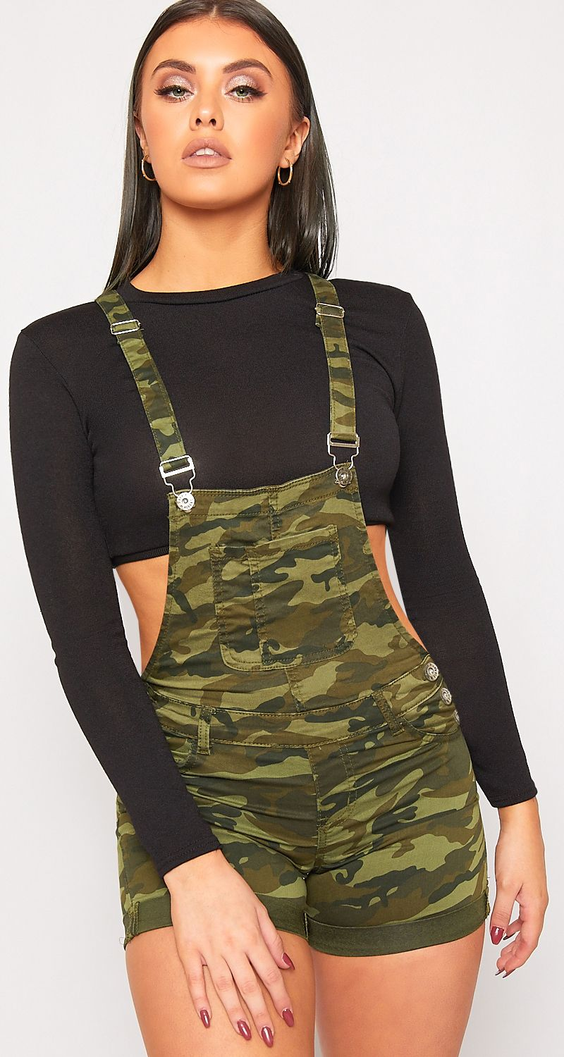 72b8f4a963 Sarai Strappy Camouflage Playsuit ☠ Grunge