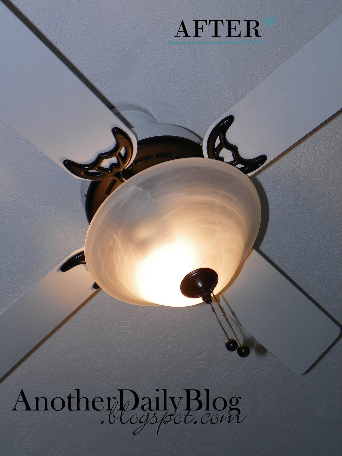 Another Daily Blog KRYLON Oil Rubbed Bronze Ceiling Fan Make Over
