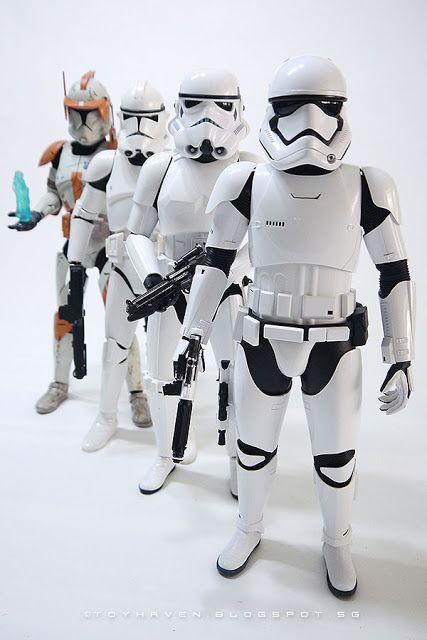 1//6 scale Star Wars First Order Storm Trooper Hands Set