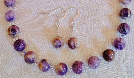 Beautiful PurpleHued Jasper Gemstone Necklace by GemsByJillDesigns, $35.99