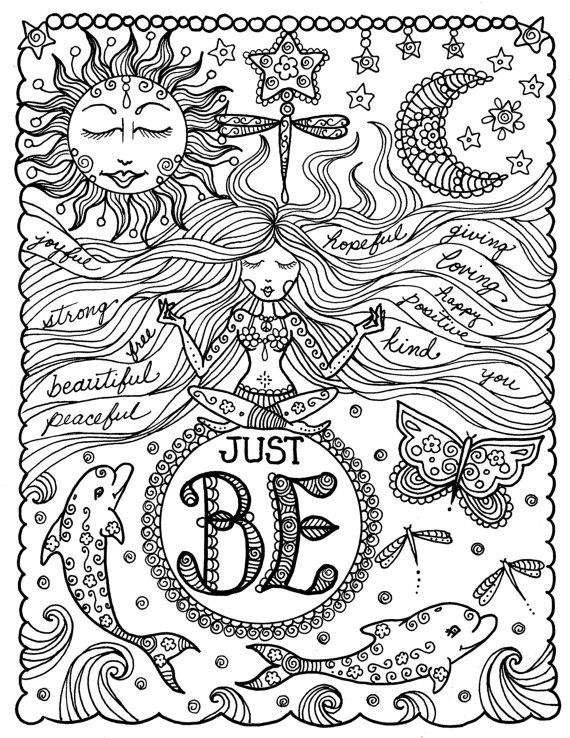 Coloring Book Be Brave Inspirierende Sprüche Art Von Chubbymermaid