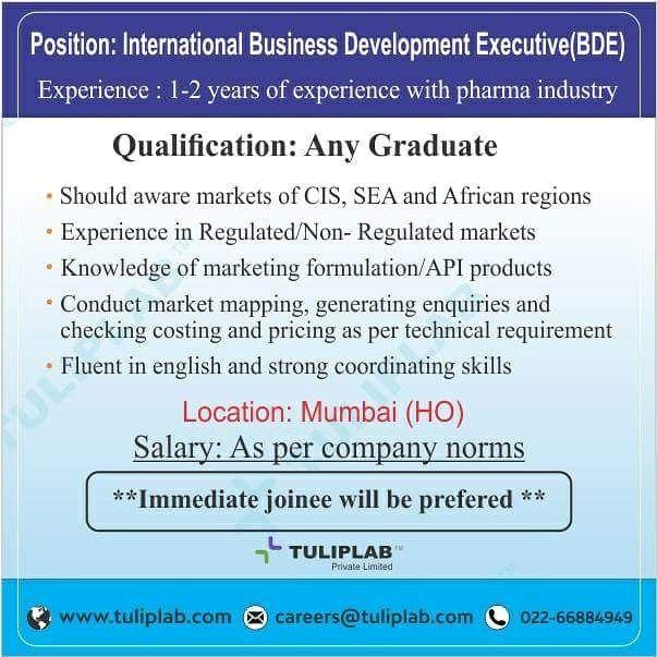 Urgent requirement for International Business Development Executive ...
