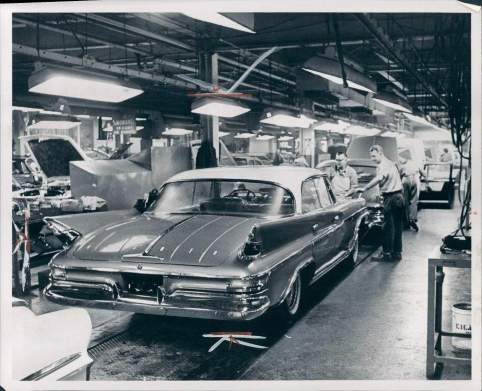 1961 DeSoto on the assembly line. | Ex Appeal: Virgil Exner, Stylist ...